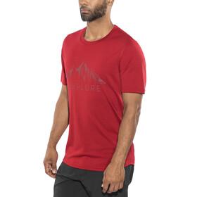 Bergans Explore Wool Bluzka z krótkim rękawem Mężczyźni czerwony